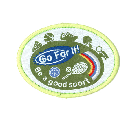Go For It! Be A Good Sport Woven Badge