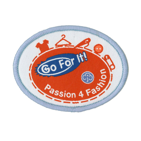 Go For It! Passion 4 Fashion Woven Badge