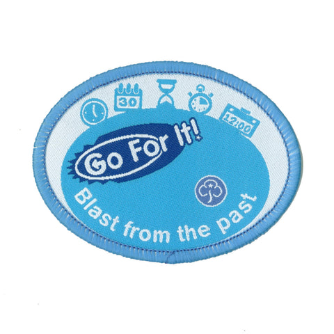 Go For It! Blast From the Past Woven badge