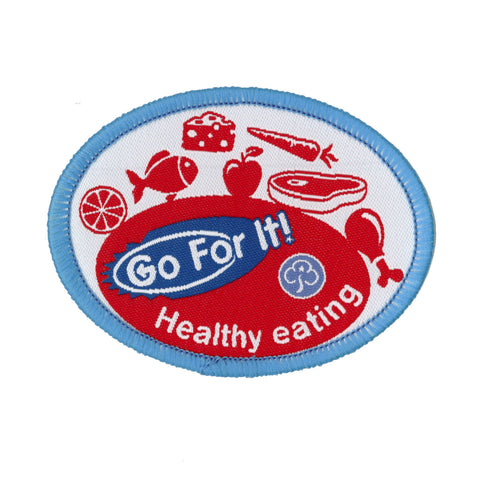 Go For It! Healthy Eating Woven Badge