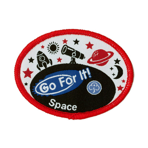 Go For It! Space Woven Badge