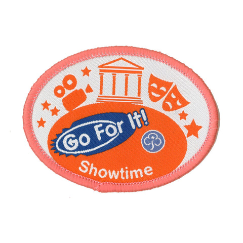 Go For It! Showtime Woven Badge