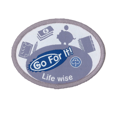 Go For It! Life Wise Woven Badge