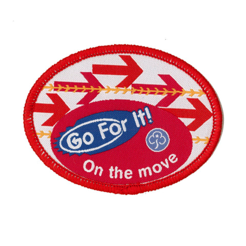 Go For It! On the Move Woven Badge