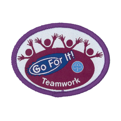Go For It! Teamwork Woven Badge