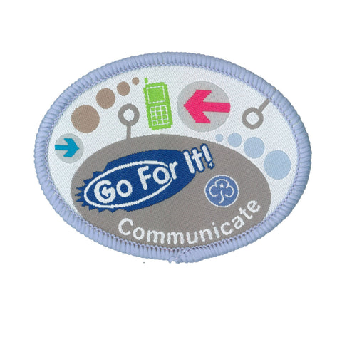 Go For It! Communicate Woven Badge