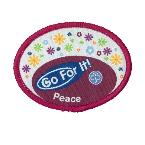 Go For It! Peace Woven Badge