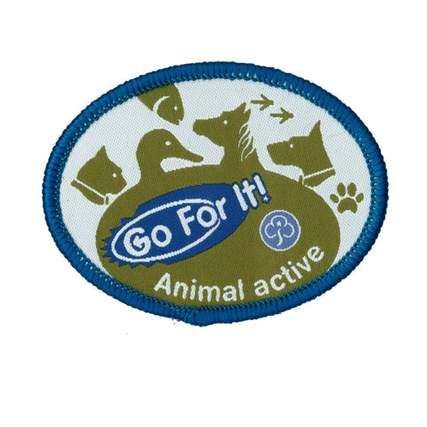 Go For It! Animal Active Woven Badge