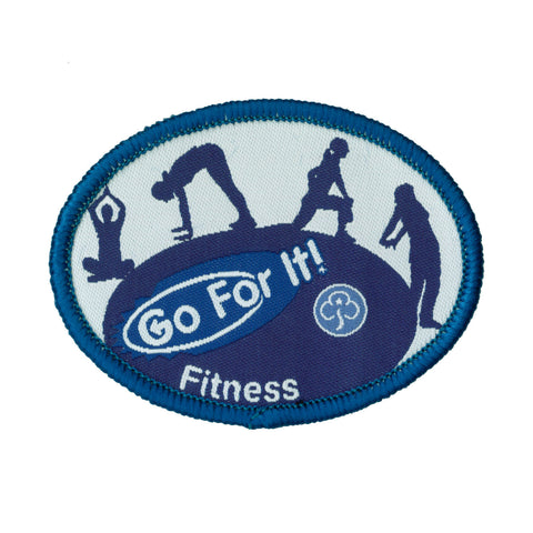 Go For It! Fitness Woven Badge