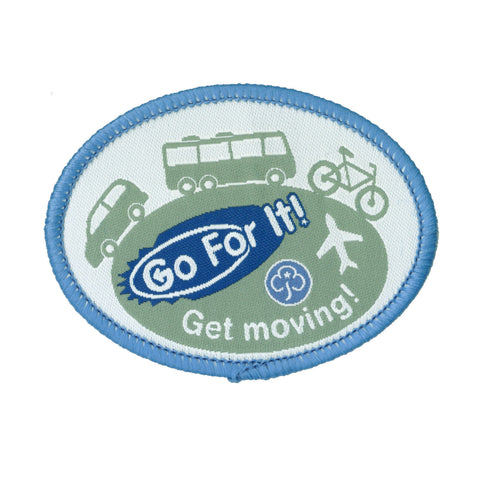 Go For It! Get Moving Woven Badge