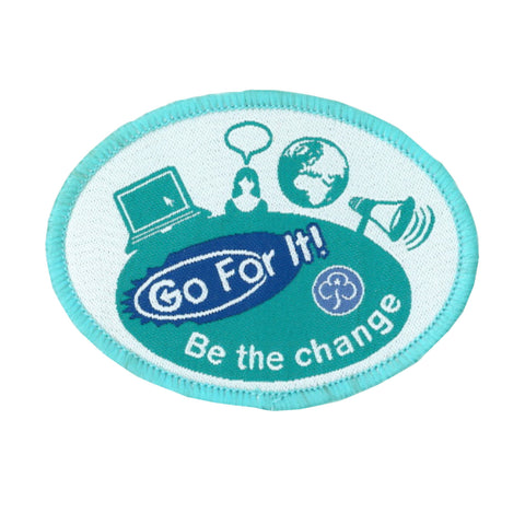 Go For It! Be the Change Woven Badge