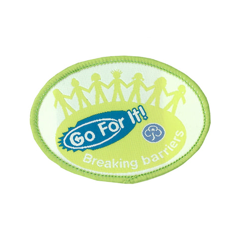 Go For It! Breaking Barriers Woven Badge