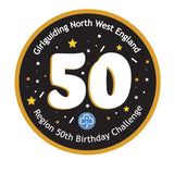 Girlguiding North West England 50th Birthday Challenge Woven Badges