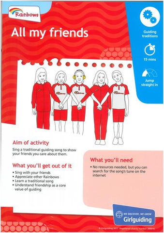 Rainbows - Unit Meeting Activity Pack 1 - All My Friends