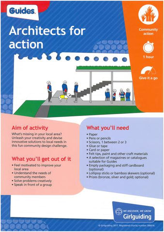 Guides - Unit Meeting Activity Pack 1 - Architects for Action