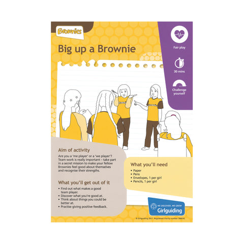 Brownies - Unit Meeting Activity Pack 4 - Big Up a Brownie