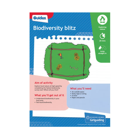 Guides - Unit Meeting Activity Pack 4 - Biodiversity blitz