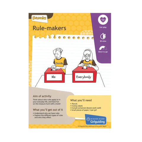 Brownies - Unit Meeting Activity Pack 5 - Rule Makers