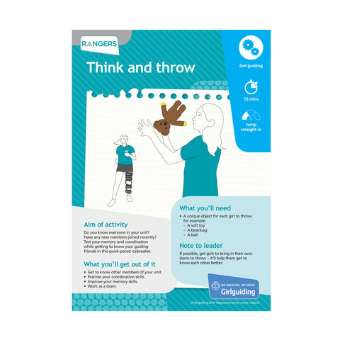 Rangers - Unit Meeting Activity Pack 5 - Think and Throw