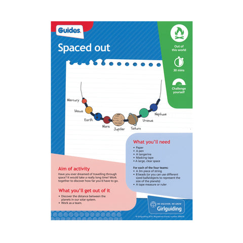 Guides - Unit Meeting Activity Pack 6 - Spaced Out