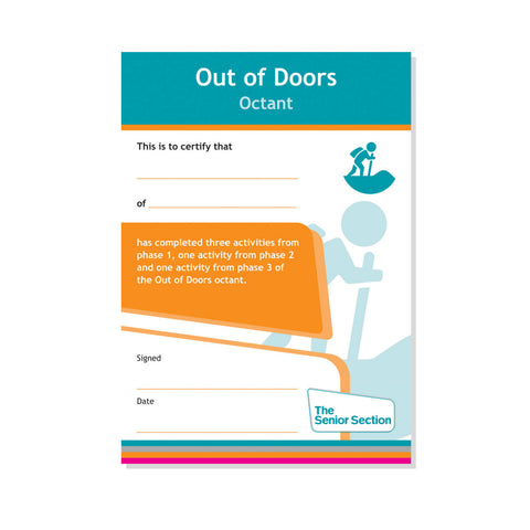 Octant Certificate - Out of Doors