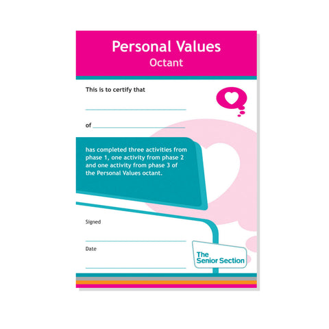 Octant Certificate - Personal Values