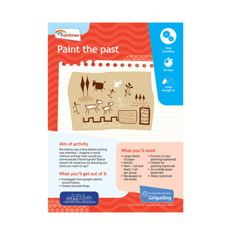 Rainbows - Unit Meeting Activity Pack 7 - The Rainbow Web/Paint the Past