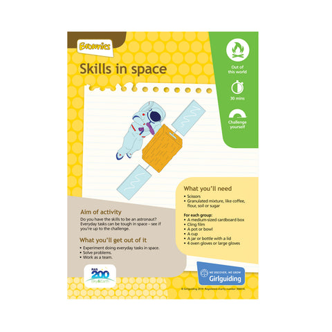 Brownies - Unit Meeting Activity Pack 7 - Colourful Memories/Skills In Space
