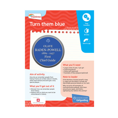 Rainbows - Unit Meeting Activity Pack 8 - Turn Them Blue