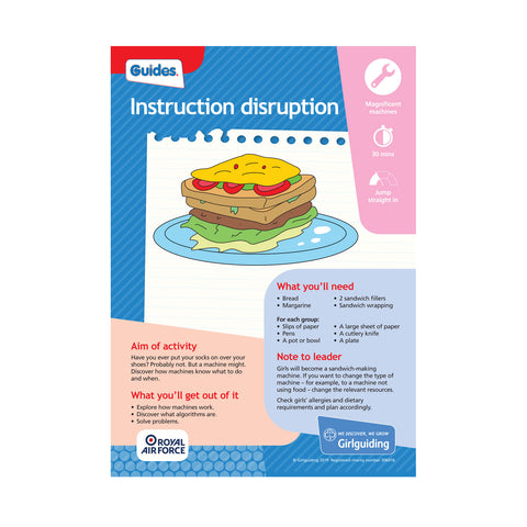 Guides - Unit Meeting Activity Pack 8 - Instruction Disruption