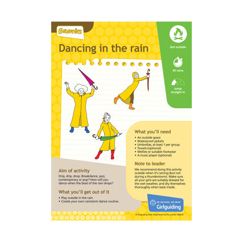 Brownies - Unit Meeting Activity Pack 9 - Dancing in the Rain