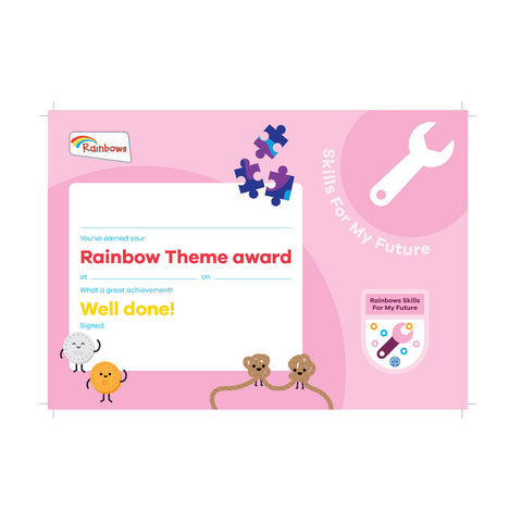 Theme Award - Rainbows Skills For My Future Certificate