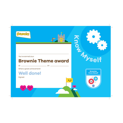 Theme Award - Brownies Know Myself Certificate