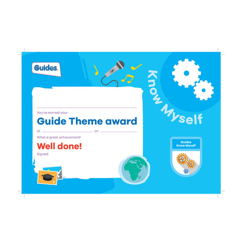 Theme Award - Guides Know Myself Certificate