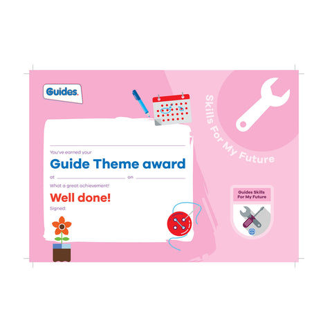 Theme Award - Guides Skills For My Future Certificate