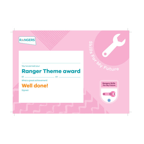 Theme Award - Rangers Skills For My Future Certificate