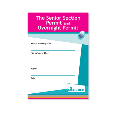 Senior Section Permit Certificate