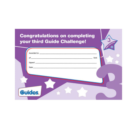 Guide Challenge 3 Certificate