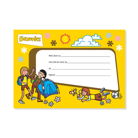 Brownie Outdoor Certificate