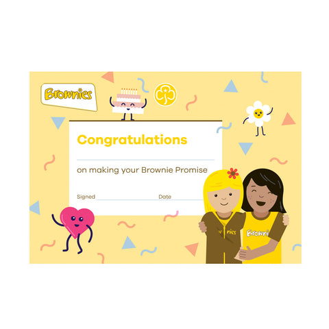 Brownie Promise Certificate
