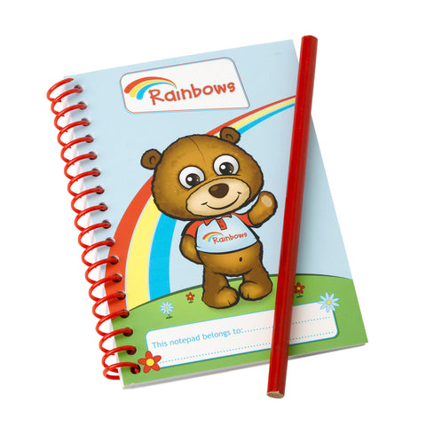 Rainbow Notepad and Pencil
