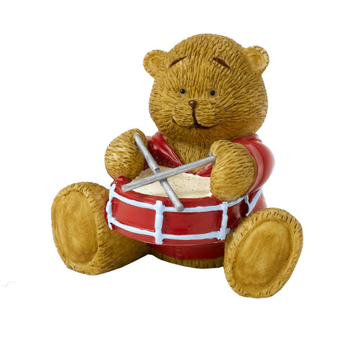 Rainbow Drummer Bear Figure