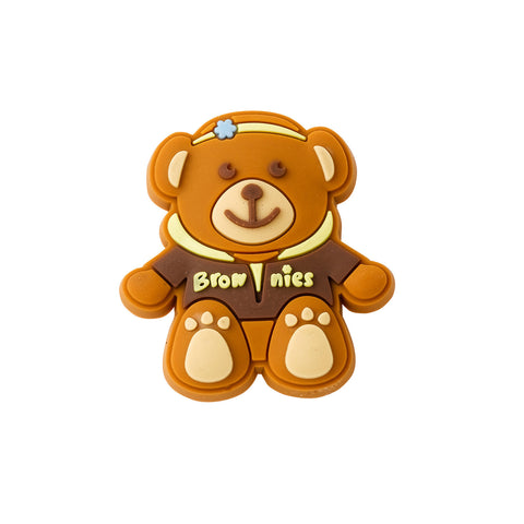 Brownie Bear Rubber Pin Badge - Hoodie