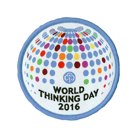 World Thinking Day 2016 Woven Badge