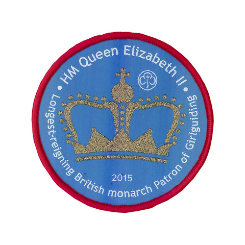 Longest Reigning British Monarch Woven Badge