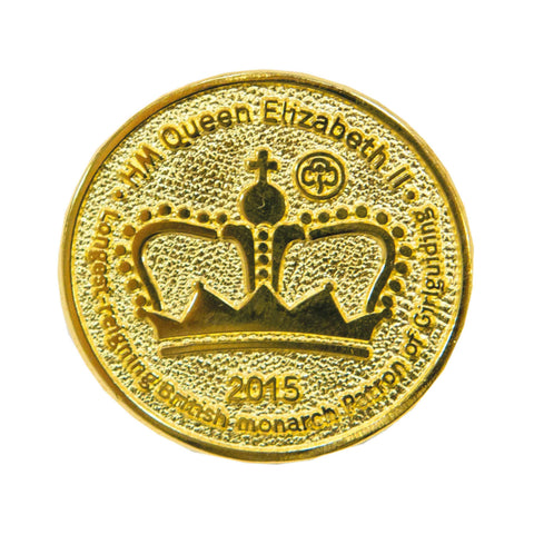 Longest Reigning British Monarch Metal Badge