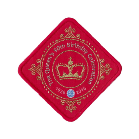 Queen's 90th Birthday Woven Badge