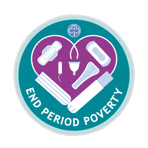 End Period Poverty Woven Badge