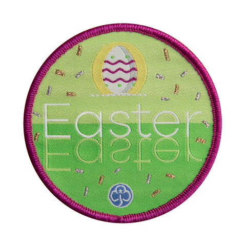 Easter Holiday Woven Badge