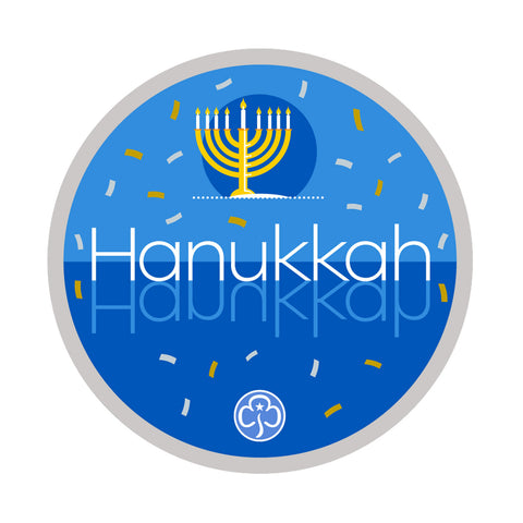 Hanukkah Holiday Woven Badge